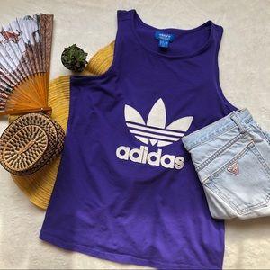 Adidas Logo VINTAGE Tank Purple Size XL